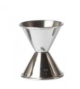 Double Jigger, Stainless Steel 1 oz. & 1-1/4 oz