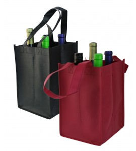 Vino Sack™ Four-Bottle Bag, Open Top