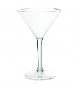 Martini Glass, Acrylic, 8 oz. Rim-full