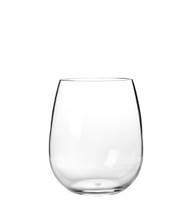 Stemless Acrylic Wine Glass 16 oz. Rim-full