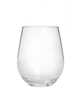 Stemless Wine Glass, Acrylic, 20 oz. Rim-full