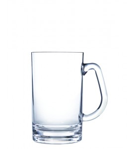 Beer Mug - Small, Acrylic 20 oz. Rim-full