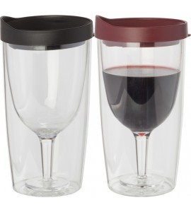 Party Goers' Wine Tumbler, 10 oz. Rim-full