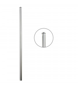 Stainless Steel Straw w/ Rolled Edge