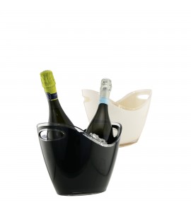 Oval Wine Bucket, Small, (Black or White)