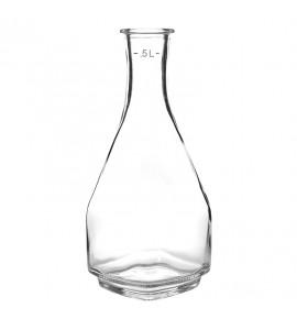 Square Glass Carafe, One-Half (1/2) Liter