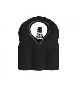 A Neptune tote for 3 wine bottles or a 6 pack of beer,  Neoprene Black, Web Exclusive!