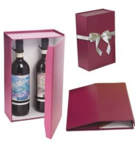 "Regency ""Pop-Up"" Two-Wine Bottle Gift Box with Bow"