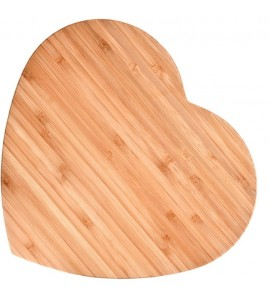 Bamboo Heart-Shaped Cutting Board, Large