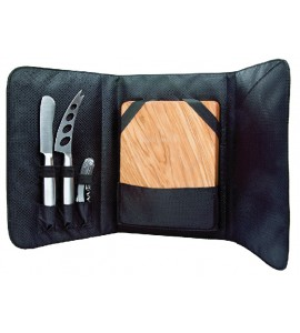 Picnic Cheese Set with Olivewood Board