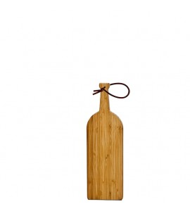 Bamboo Cutting Board, Small with Leather Strap