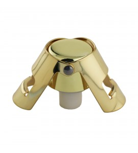 Quick Seal™ Gold plated Stainless Steel Champagne Stopper