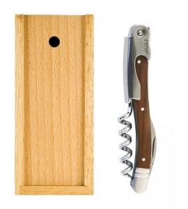 Laguiole™ Luxury Corkscrew, Walnut Handle Set w Box
