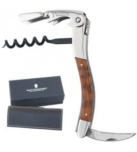 Laguiole Tradition® Two-Lever Waiter's Corkscrew, Amourette Wood