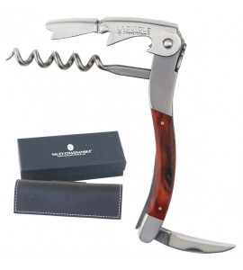 Laguiole Tradition® Two-Lever Waiter's Corkscrew, Rosewood