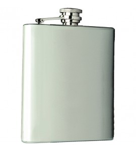 Captive-Top Pocket Flask, 8 oz.