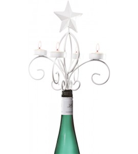 White Star Wine Bottle Candelabra*