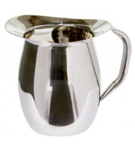 Bell Pitcher 2 qt 8 oz. with Ice Guard, Stainless Steel