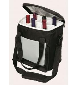 Six-Bottle Shoulder-Strap Wine Tote