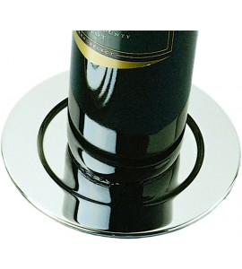 Pratique Wine Bottle Coasters, Silver Plated, Set of 4