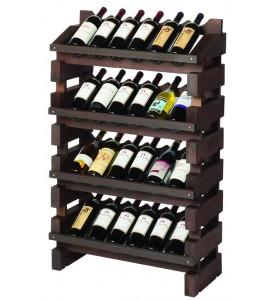 Modularack® Full Display Rack 24 Bottles - Stained