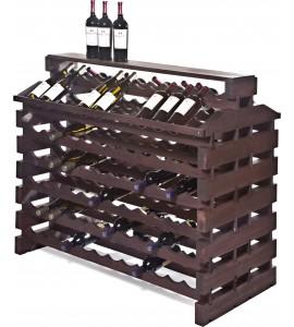 Modularack® Island Fixture Deluxe 144 Bottles – Stained