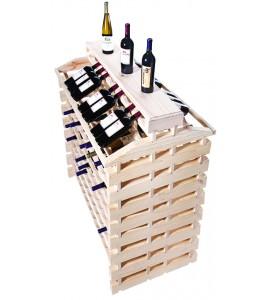 Modularack® Island Fixture Deluxe 192 Bottles – Natural