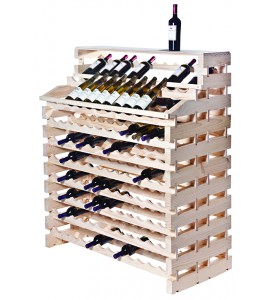 Modularack® Waterfall Fixture Deluxe  204 Bottles - Natural