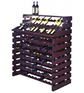 Modularack® Waterfall Fixture Deluxe 204 BOTTLES - Stained