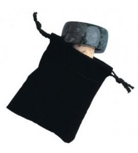 Velveteen Pull-string Sack for Stopper, Black