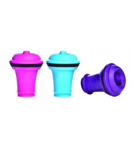 VacuVin® Wine Stoppers, Box of 3, Assorted Colors