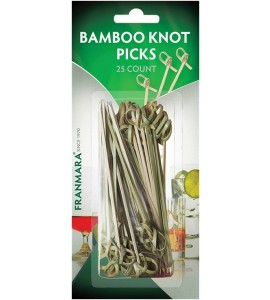 Bamboo Knot Picks (25 Count)