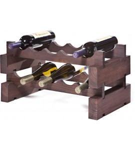 Modularack® 10 Bottle Rack 2 x 5, Stained
