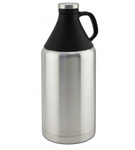 Beer Growler, 64 Ounce Triple-Wall, Stainless Steel, with Tritan® Top