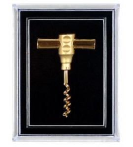 Pocket Corkscrew Pin, Gold Plated