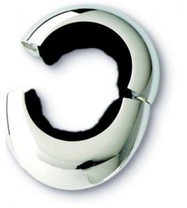 Magnetic Wine Collar, Two-Piece, Silver Plated