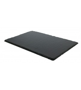 "SLATE RECTAGULAR PLATE, 11-7/8"" LONG/COATED"