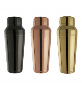 Speed-Pour Cocktail Shaker Set, 24 oz. Stainless Steel, Three Finishes