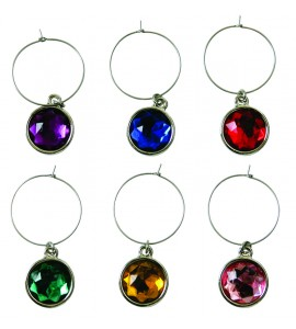 Wine Gem Charms (6 Piece Set)