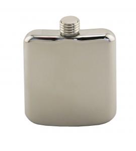 Polished Stainless Steel Sleekline Pocket Flask, 6 oz.