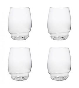 PrestoFlex™ Stemless Wine Glasses, Set of 4, 16 oz. Rim-full each