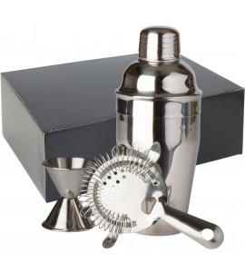 Bar Gift Set #10 (3 Piece Set) in Black Gift Box, Stainless Steel