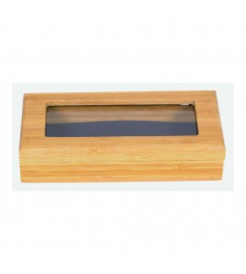 Waiter's Corkscrew Bamboo Box, Two Piece, Window Lid