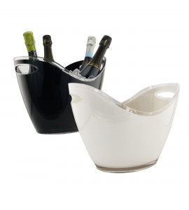 Oval Wine Bucket, Large, (Black or White)
