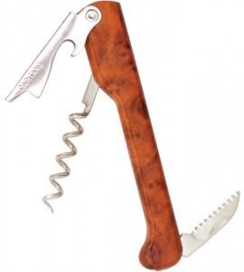 Capitano® Waiter's Corkscrew, Designer Series Handle Burlwood