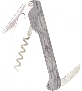 Capitano® Waiter's Corkscrew Designer Series White Marble decal