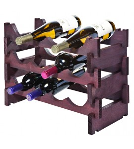 VinRack™ 3 x 4 = 12 Bottle Rack, Stained