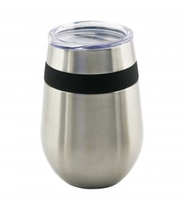 Stemless Glass Triple-Wall Stainless Steel 12 oz. with Tritan drinking Lid