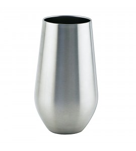 Stemless Glass Triple-Wall, Black Enamel over Stainless Steel 16 oz. with Tritan® Lid