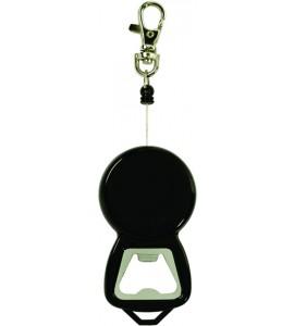 Reel-It-In Bottle Opener, Black ABS Plastic